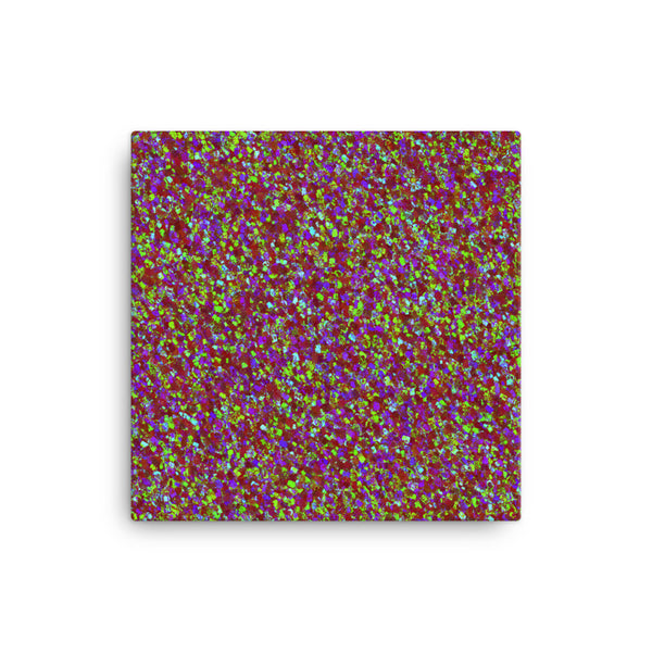 Painter - Deep Red 12 x 12 Canvas Print - Pattern and Print