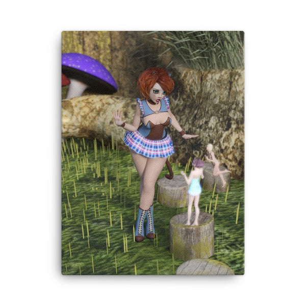 Fairy Encounter 18 x 24 Canvas Print