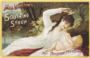 Mrs. Winslow's Soothing Syrup Trading Card