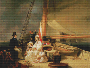 Mr. Ward and His Family on Board His Cutter Guerrilla
