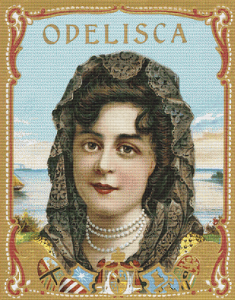 Odelisca Vintage Label Art