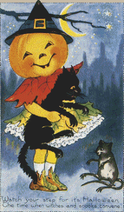 Pumpkin Witch - Pattern and Print