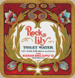 Rock Lily Toilet Water Label