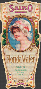 Salko Florida Water Label - Pattern and Print