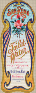 San Remo Toilet Water Label