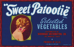 """Sweet Patootie"" Vegetable Label - Pattern and Print"