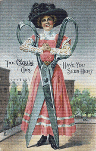 The Clauss Girl Trading Card