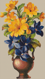 Vintage Blue and Yellow Flowers