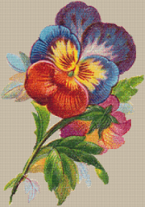 Vintage Pansies - Pattern and Print