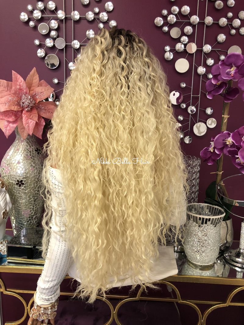 "Blonde Ombre Swiss Lace Front Wig | 30"" Kingdom 918"
