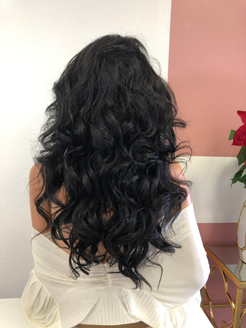"Black 13x4 Multi Parting Lace Frontal Wig 24"" 0319 My True Love"