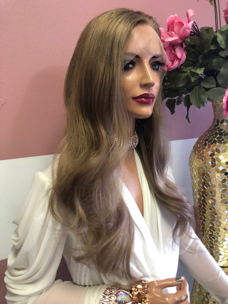 "Dark Blonde Full Lace Wig 18""  0219 Anne"