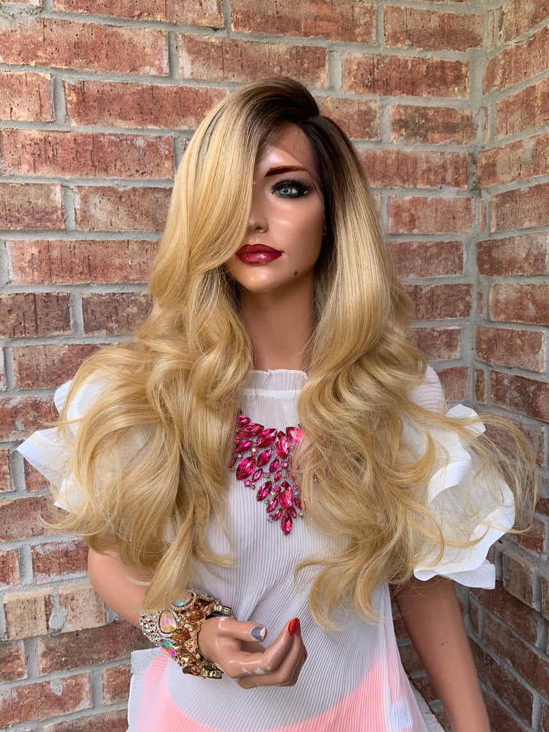 ROSA Blonde Ombre' Hair Lace Wig 16""