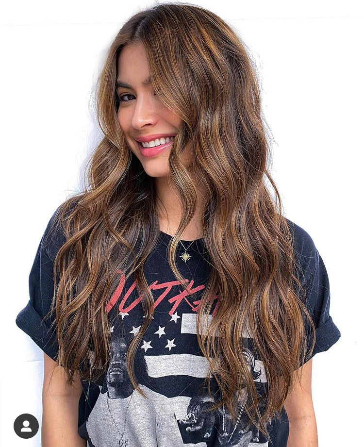 "NICOLE full lace wig 22"" long brown balayage hair"