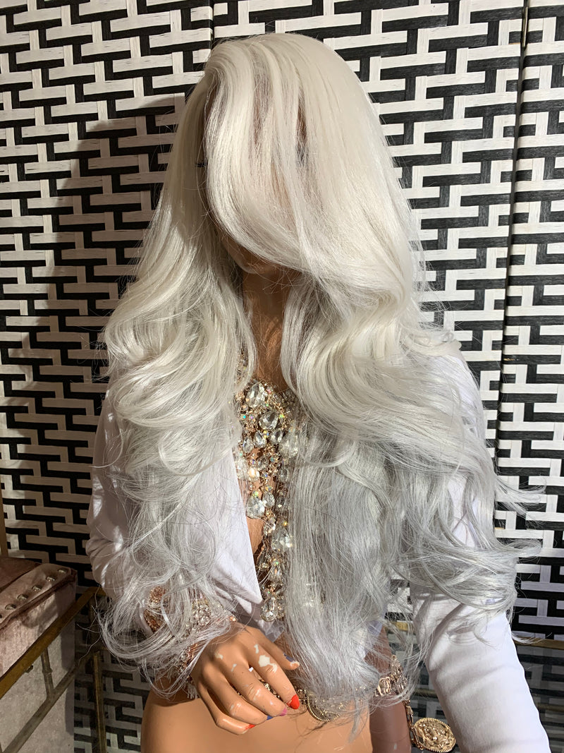 SILVER FOX lace front wig 1119
