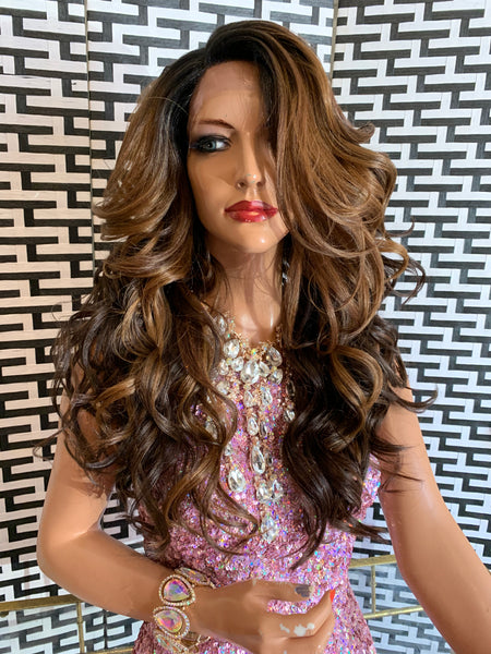 "LACI lace front wig 18"" long blonde brown Balayage ombré hair"