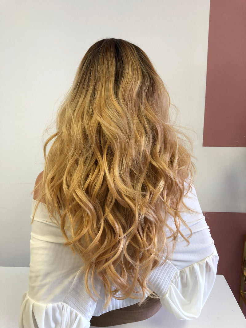 "Blonde Ombre 4Way Vixen Multi Parting Lace Frontal Wig 20"" 0319 Pressure"
