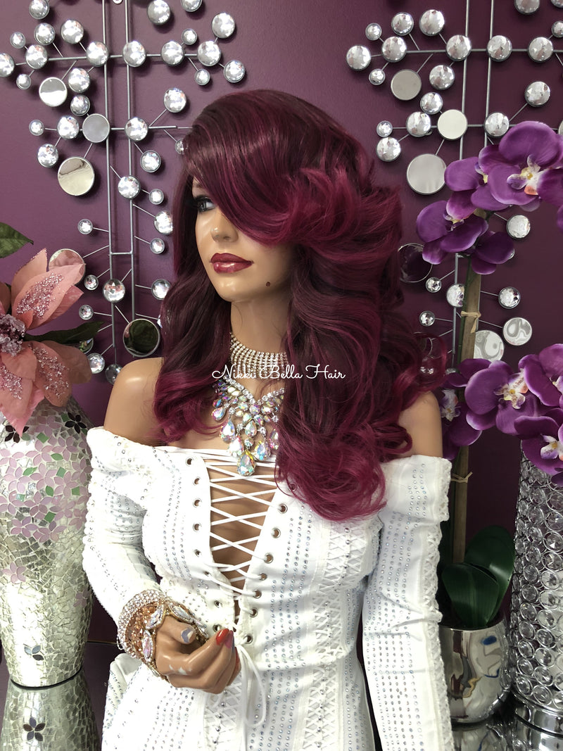 "Fuschia Pink Lace Front Wig | 14"" 1018 Strange'"