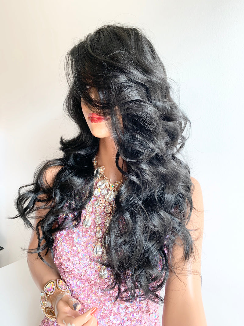 "FAYE Layered curly lace front wig 16"" *420"