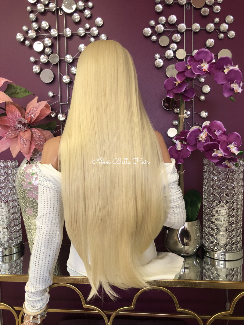 "Blond 360 Multi Parting lace front wig 30"" - Purity 1018"