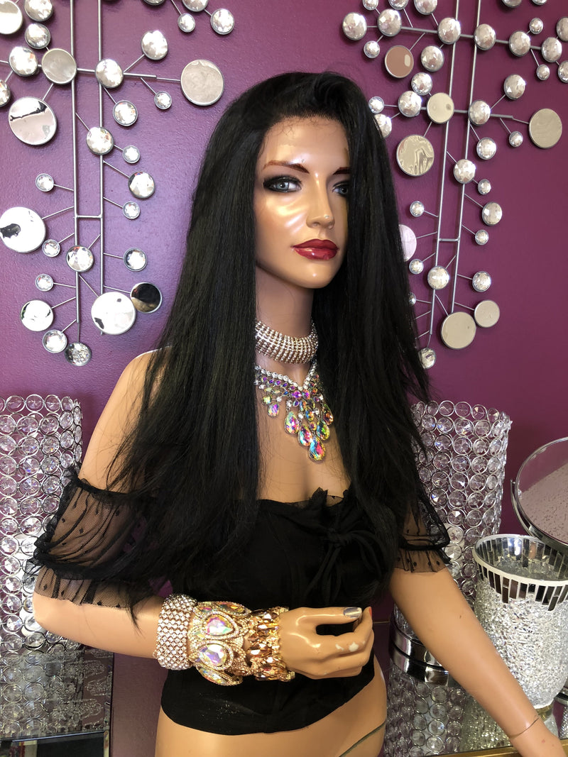 Black Full Lace Wig  918
