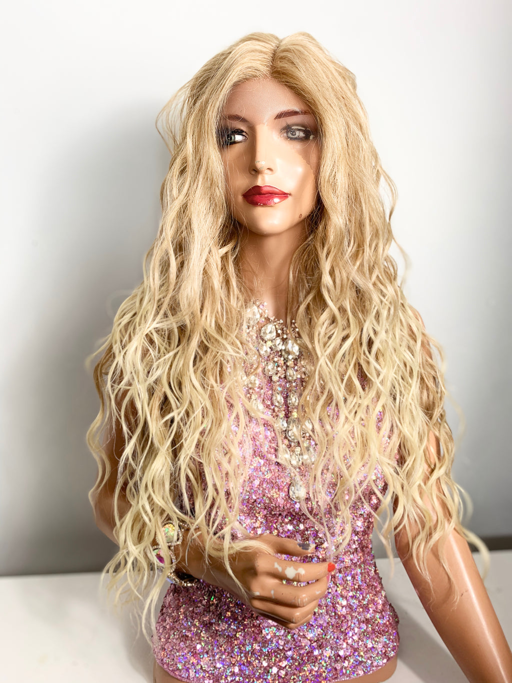 "Balayage light blonde lace front wig 26"" 420"