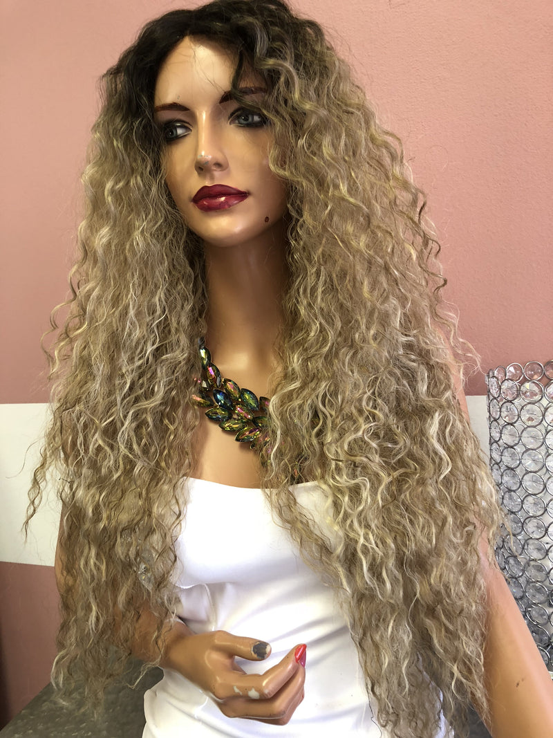 "Blonde WAVES Swiss Wig 24"" 618"