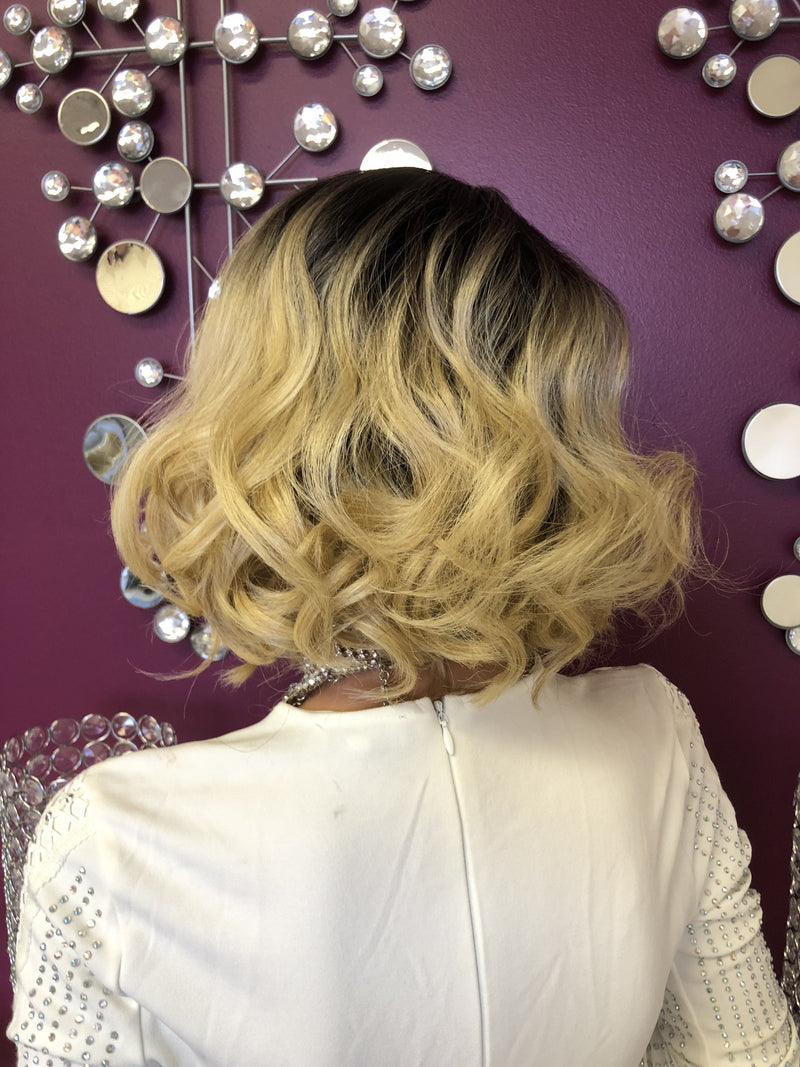 "Blonde Balayage Ombre 6"" Lace Part Wig 918"