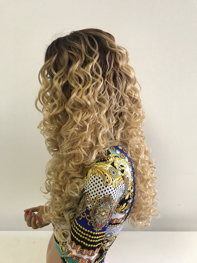 Blond Ombre' Long Wavy Hair 418