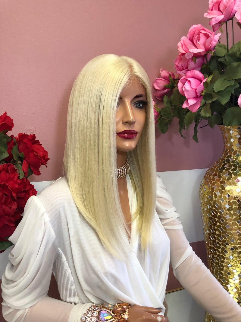 "Blond Lace Front Wig 14"" 0219 10"