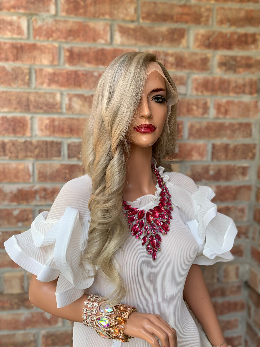 Ash Blond Balayage Full Lace Wig | Mary 0419