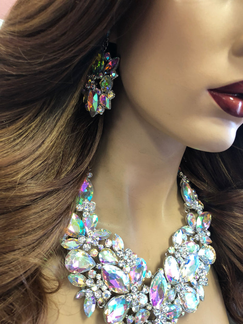 Rainbow Diamond Necklace Set | Windsor Palace Queen's Jewelry Collection | J7******
