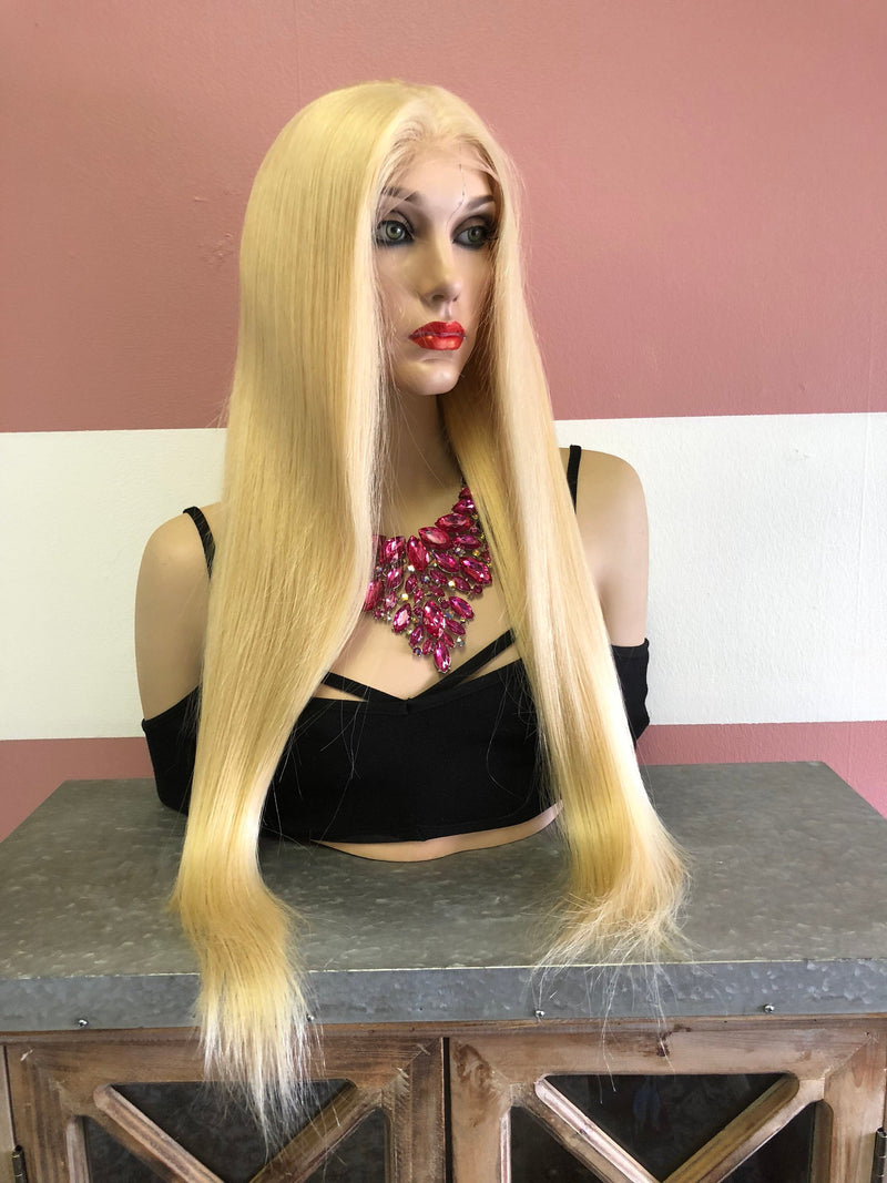 Blond Swiss Full Lace Wig | Long Straight Hair | Sandra