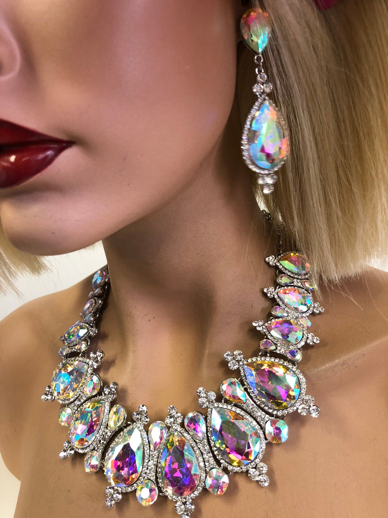 Rainbow Diamond Necklace Set | Windsor Palace Queen's Jewelry Collection | J2*****