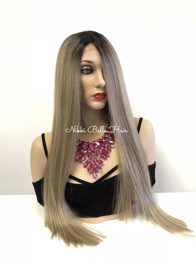 Blond Ombre' Balayage Swiss Lace Front Wig | Brenda
