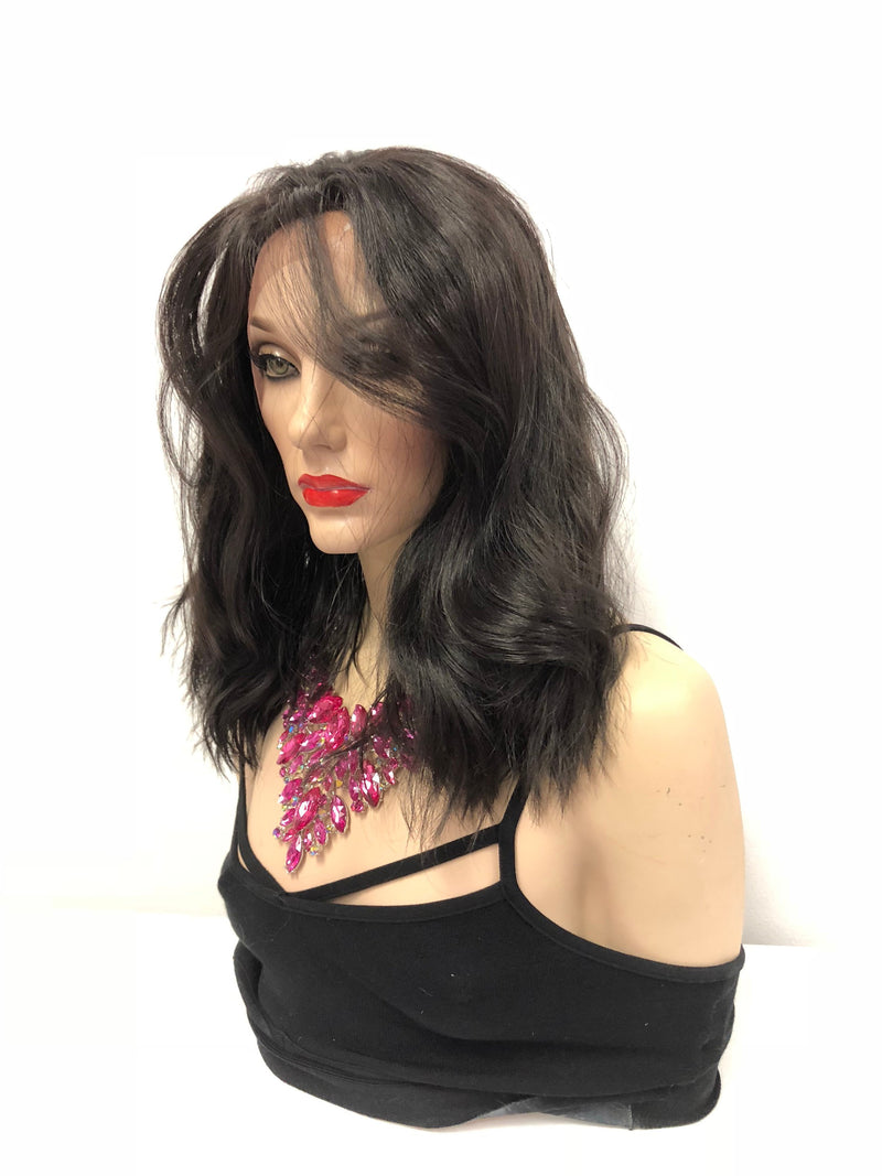 Dark Brown Swiss lace front wig| Multi parting | 918 20 Take the Next Steps