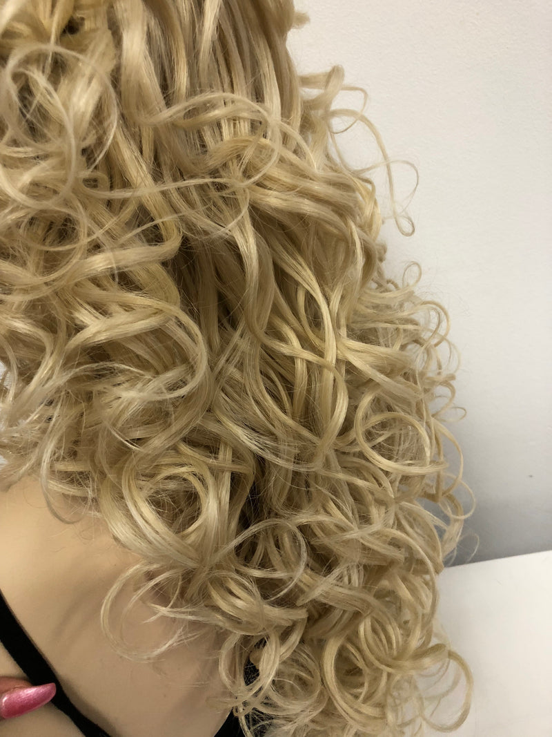 Blonde Swiss lace front wig| 13x6 Multi parting | Dolly Parton Costume Wig | 918 22 Receive Love