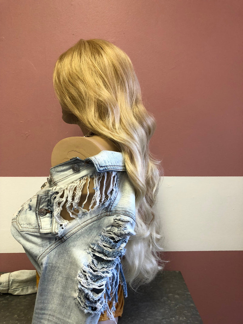 "Blonde Balayage Lace front Wig 24"" e22 