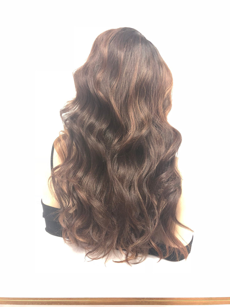 Brown Balayage Lace Front Wig | Long Volume Layered Curls | 918 Danni