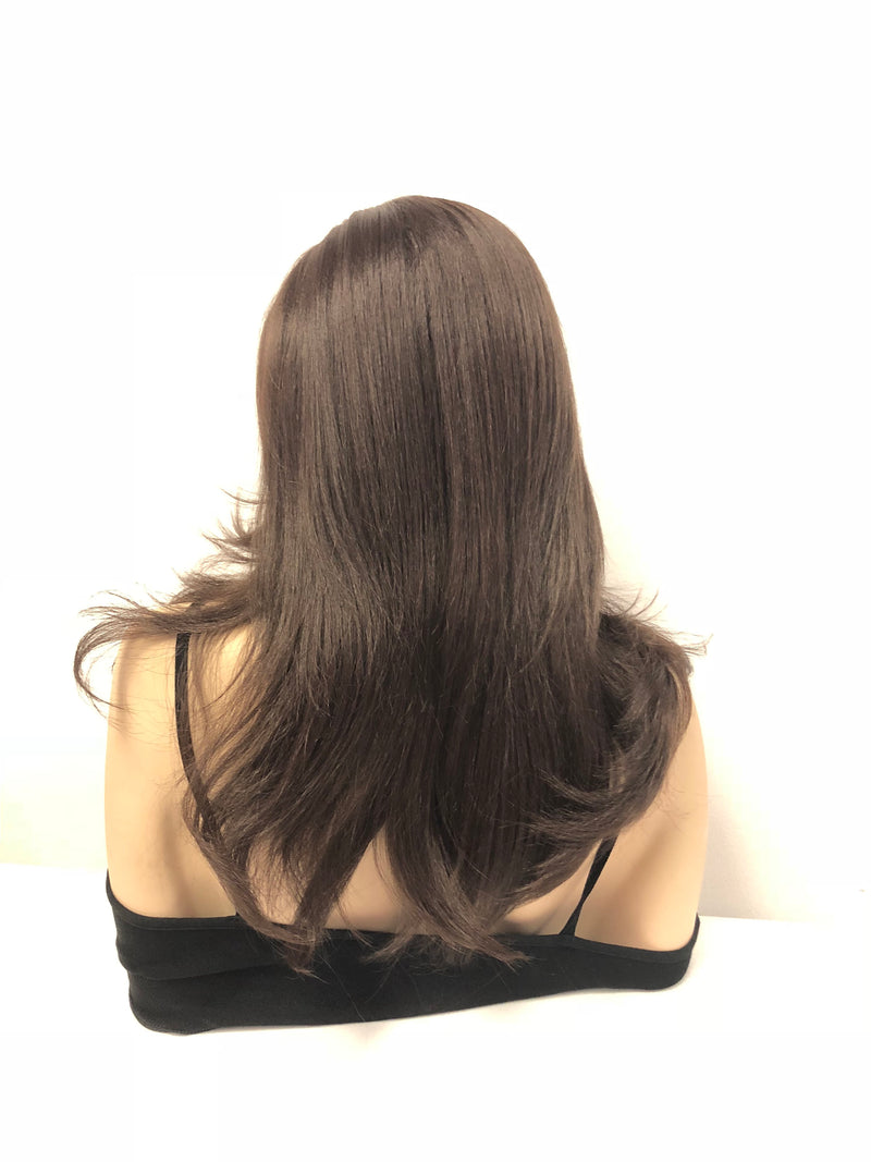Brown Multi Parting Front Lace Wig 14"