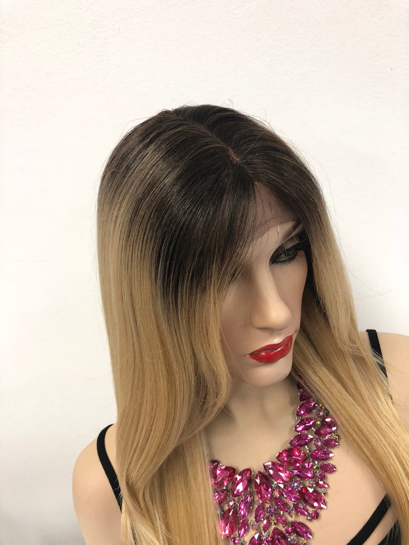 Blond Ombre Front Lace Wig 18"