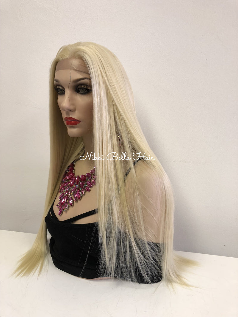"Blonde Multi Part MEDICAL GRADE Silicon Skin Lace Front Wig | 30"" Stormy 918 16"