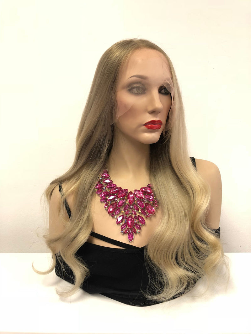 Blond Full Lace Wig - Lupe 20""
