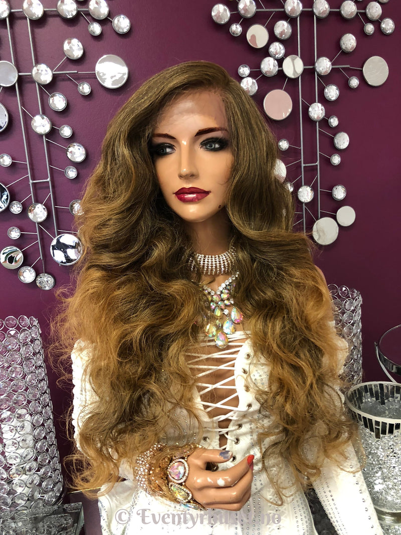 Dark Blonde Swiss lace front wig 13x6 Multi parting  918