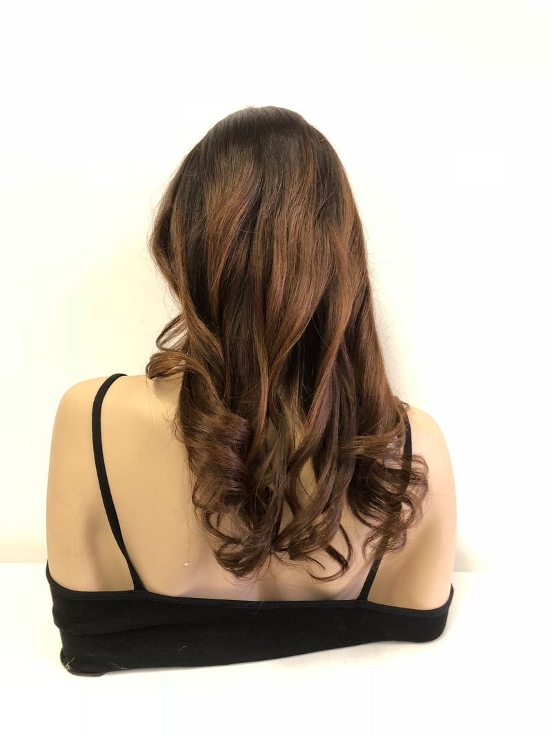 Ombre Human Hair lace front wig 18"