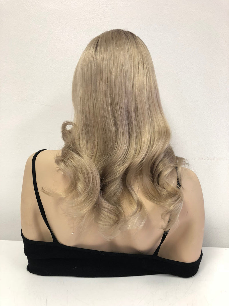 "Brazilian Ash Blonde Ombre Human Hair full lace wig | 14"" Linda"