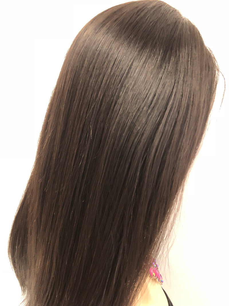 Black Human Hair lace front wig 16"
