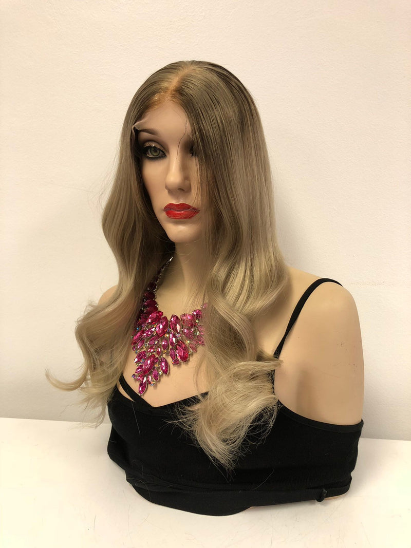 "Dark Blond Balayage Ombre SWISS Brazilian Full Lace Wig | 16"" Encounter"