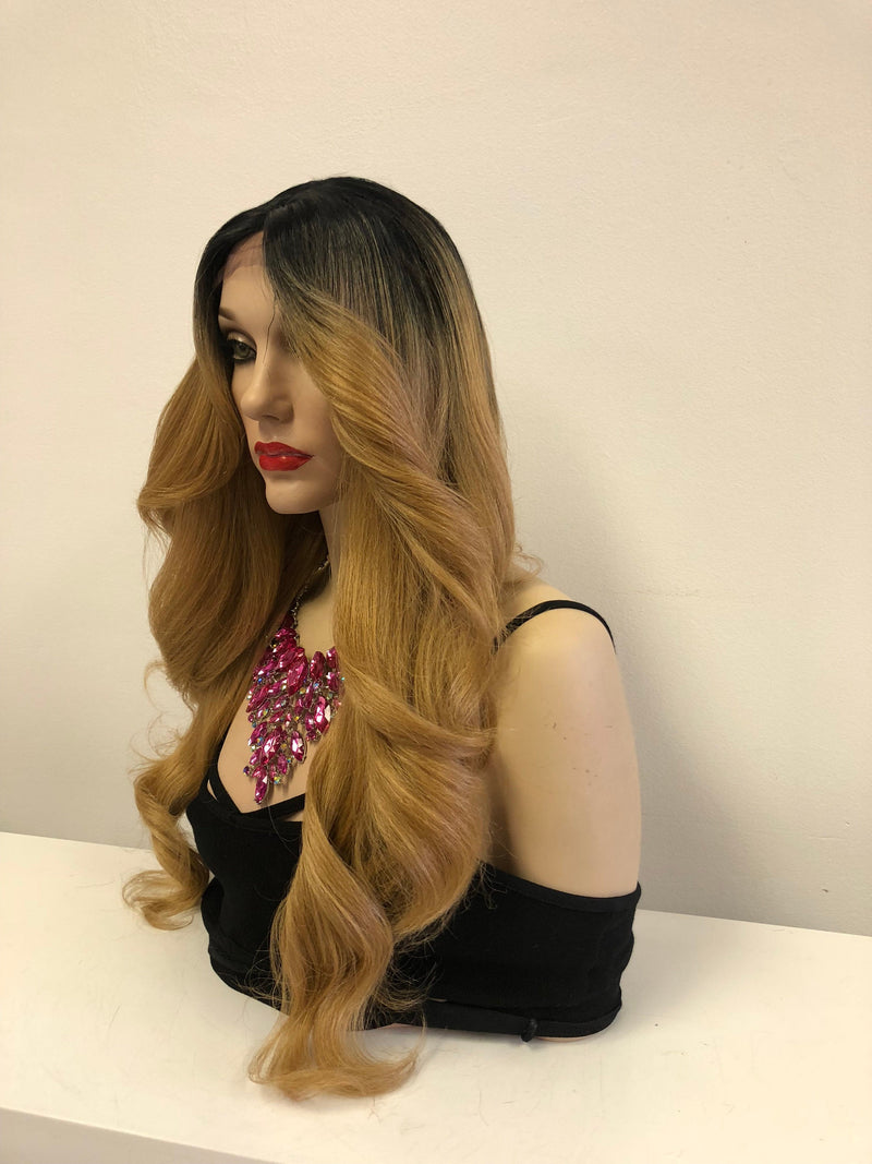 Ombre' Blonde Lace front Wig 22"