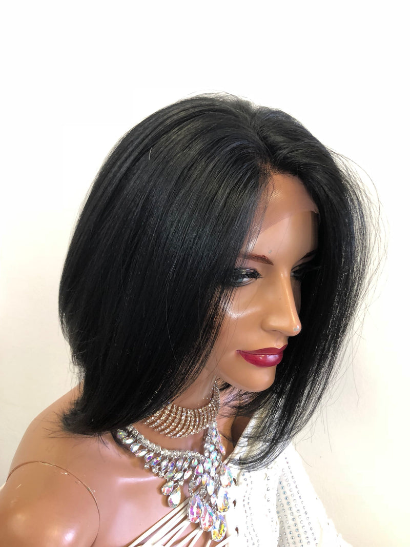Black Swiss Lace Front Wig | Soft Layered Hair | Autumn 1018 18